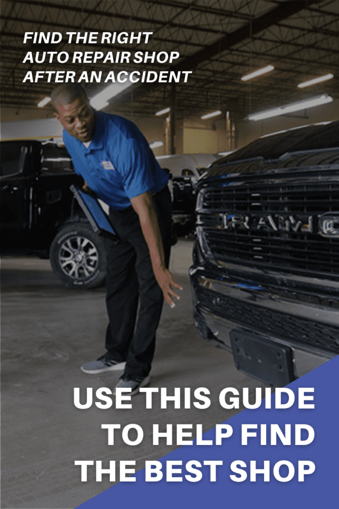 2021 guide on how to find a collision repair shop after an accident.